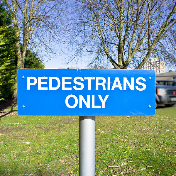 Pedstrians Only Print by Tom Gowanlock