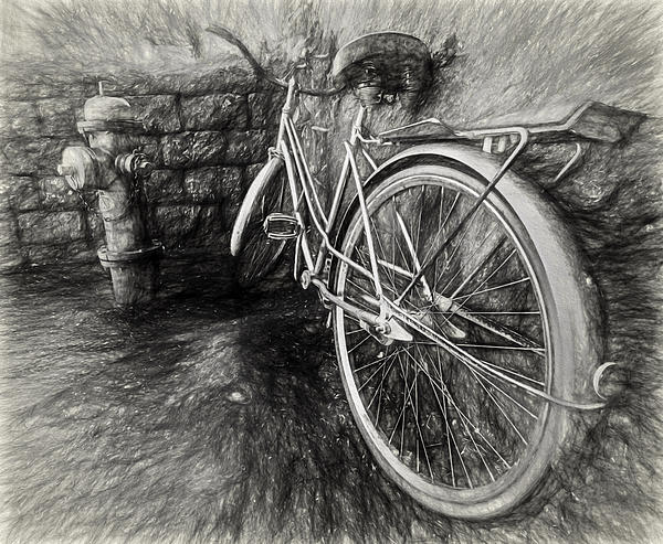 Pencil Sketch Bike by Gary Oliver