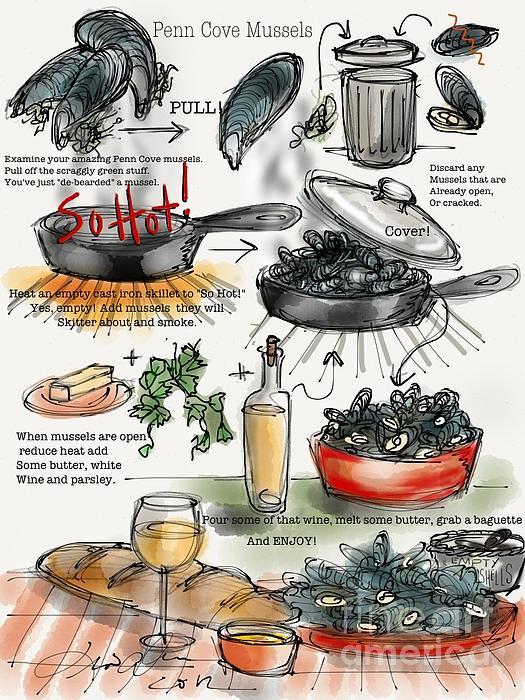 Penn Cove Mussels Print by Lisa Owen-Lynch