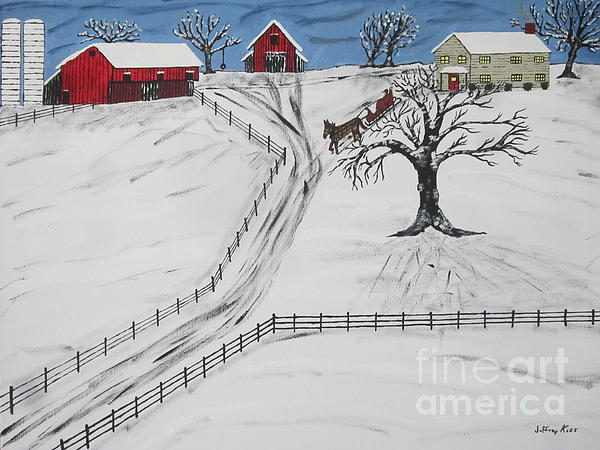 Pennsylvania Sleigh Ride Print by Jeffrey Koss