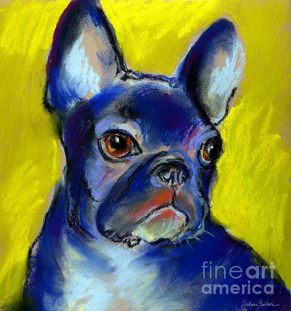 Pensive French Bulldog Portrait Print by Svetlana Novikova