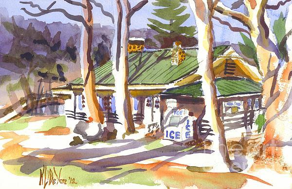 Penuel Lodge In Winter  Print by Kip DeVore