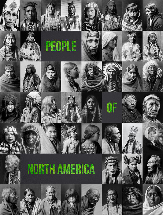 People Of North America Print by Aged Pixel
