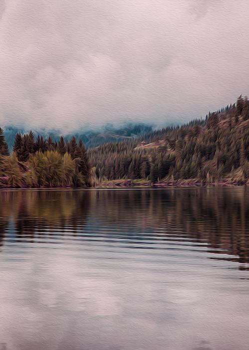 Perfectly Cloudy Lake Print by Omaste Witkowski