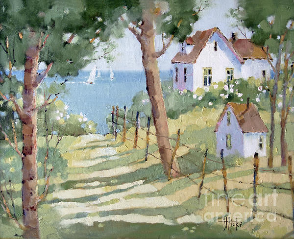 Perfectly Peaceful Nantucket Print by Joyce Hicks