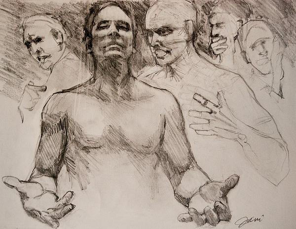 Persecution Sketch Print by Jani Freimann