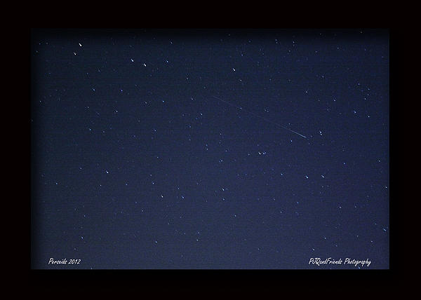 Perseid Meteor Print by PJQandFriends Photography
