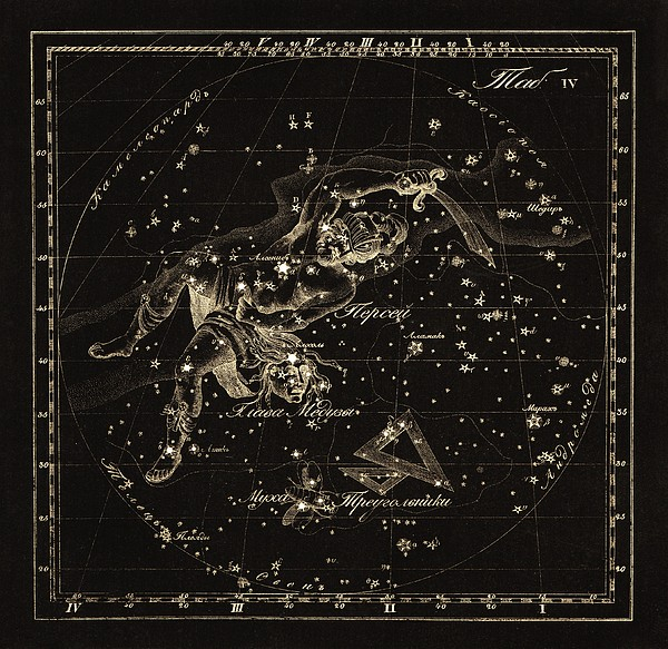 Perseus Constellations, 1829 Print by Science Photo Library