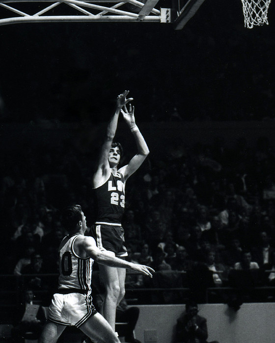 Pete Maravich Shooting From Distance Print by Retro Images Archive