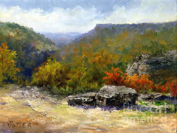 Petit Jean View From Mather Lodge Print by Virginia Potter