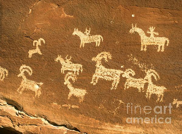Petroglyphs, Utah Print by David Davis
