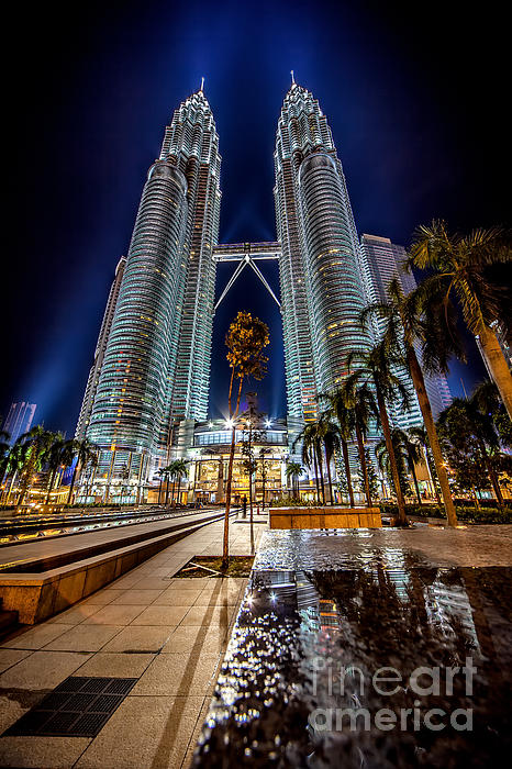Petronas Twin Towers Print by Adrian Evans