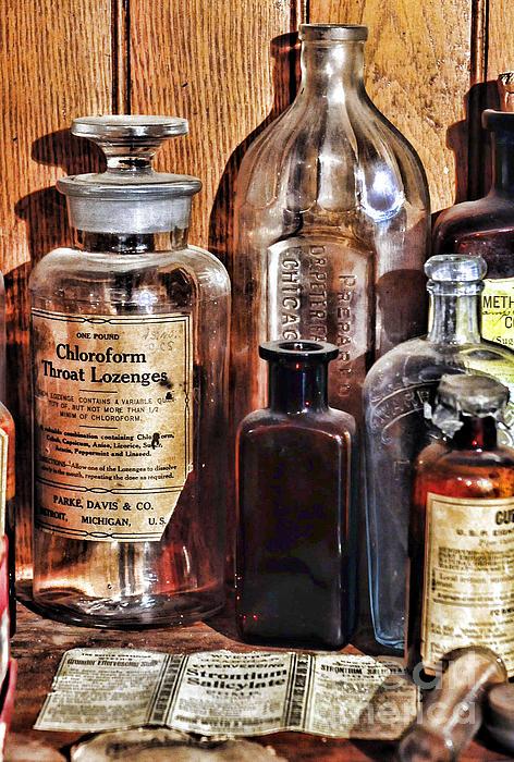 Pharmacy - Chloroform Throat Lozenges Print by Paul Ward