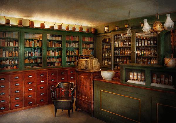 Pharmacy - Patent Medicine  Print by Mike Savad