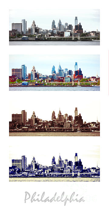 Philadelphia Four Seasons Print by Olivier Le Queinec