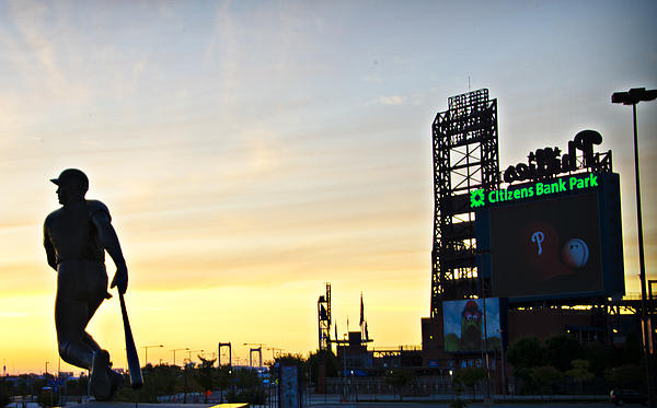 Phillies Stadium At Dawn Print by Bill Cannon