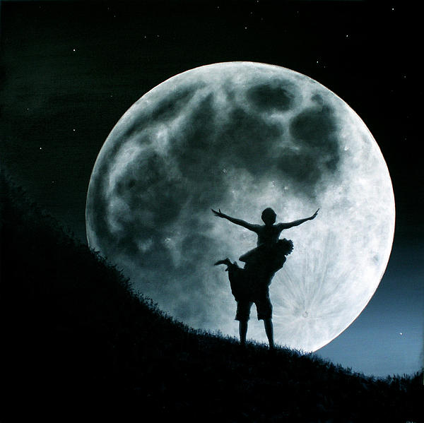 Philos Under A Full Moon Rising Print by Ric Nagualero
