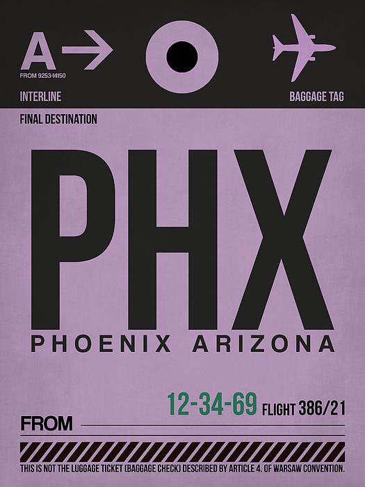 Phoenix Airport Poster 1 Print by Naxart Studio