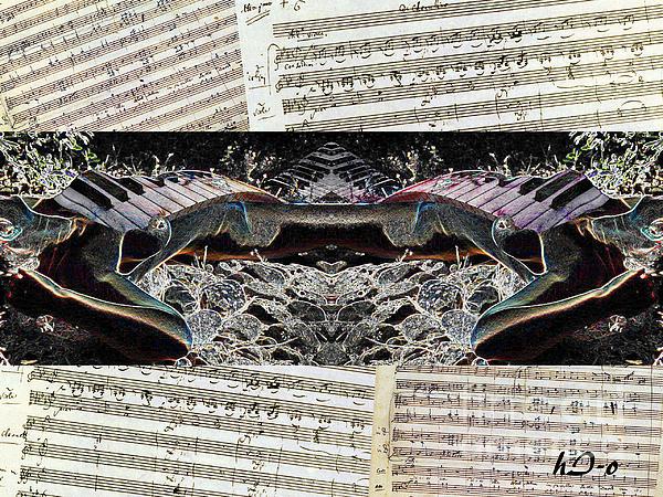 Piano Barojazz Scores Print by Ha Imako