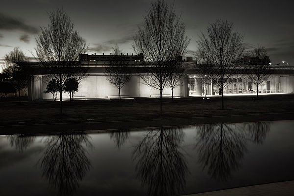Joan Carroll - Piano Pavilion BW Reflections