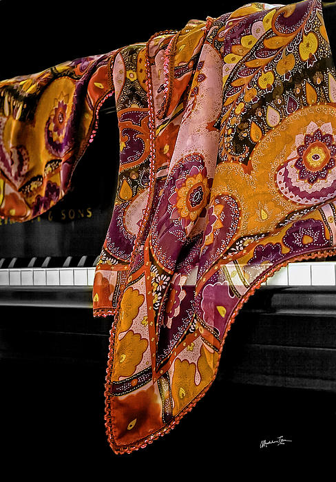 Piano With Scarf Print by Madeline Ellis