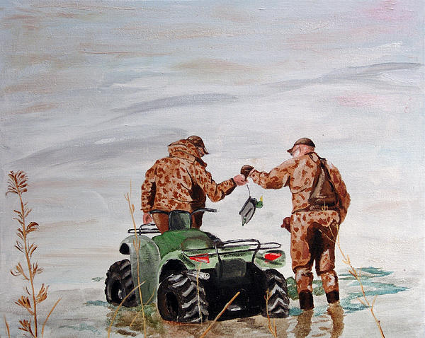 Picking Up The Decoys Print by Kevin Callahan