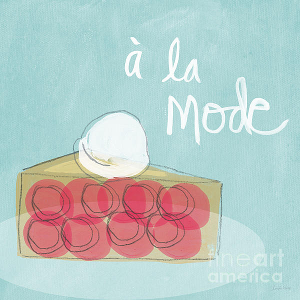 Pie A La Mode Print by Linda Woods