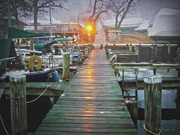 Pier Light - Oil Paint Effect Print by Brian Wallace