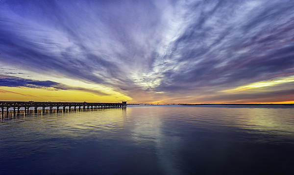 Pier Sunrise Print by Vicki Jauron