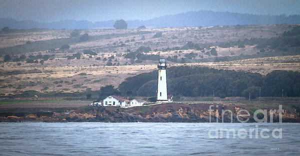 Pigeon Point Lighthouse Print by Mitch Shindelbower