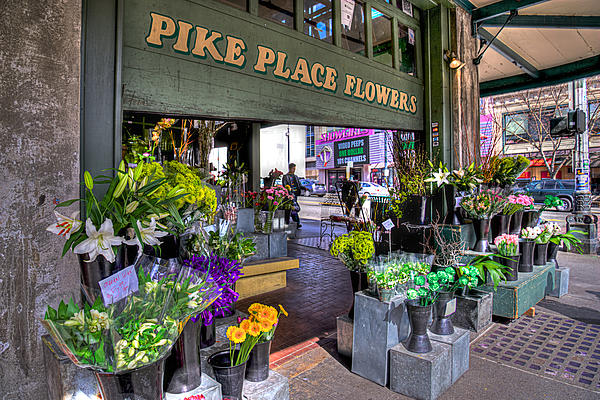 Pike Place Flowers Print by Spencer McDonald