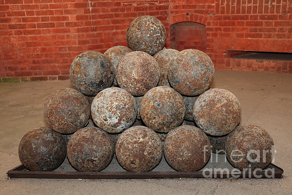 Pile Of Cannon At San Francisco Fort Point 5d21493 Print by Wingsdomain Art and Photography