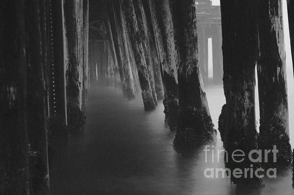 Pillars And Fog 1 Print by Paul Topp