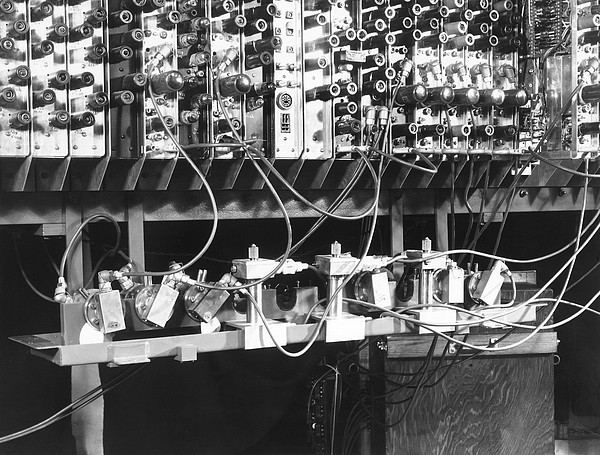 Pilot Ace Computer Components, 1950 Print by Science Photo Library