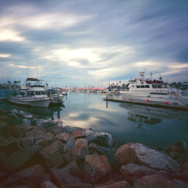 Pinhole Oceanside Harbor Print by Hugh Smith