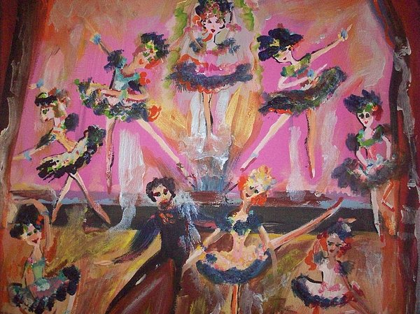 Pink Apple Waltz Print by Judith Desrosiers