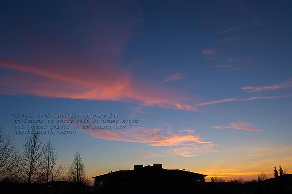 Pink Clouds Print by Rima Biswas