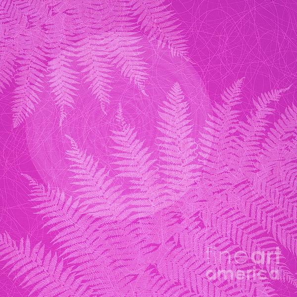Pink Fern Pattern Print by Tim Gainey