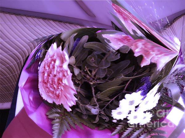 Pink Flowers Print by Gabriele Mueller