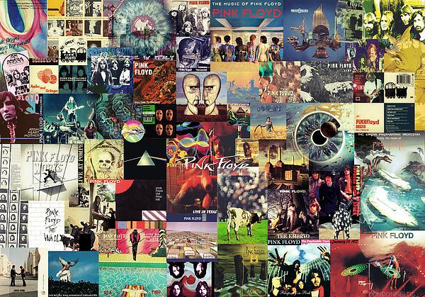 Pink Floyd Collage II Print by Taylan Soyturk