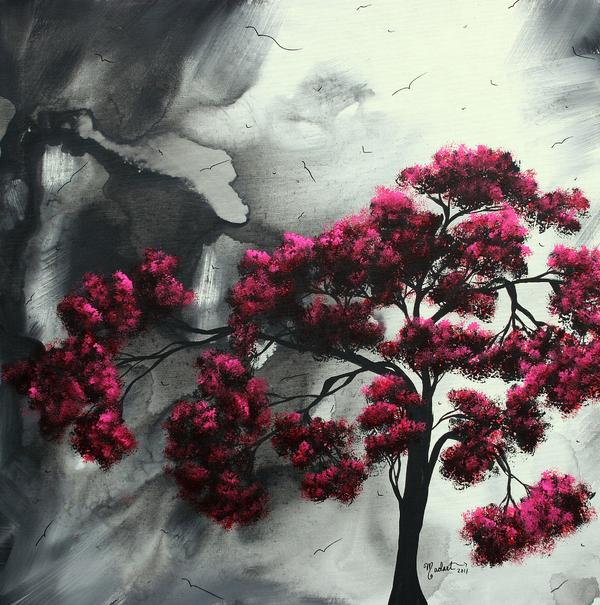 Pink Passion Original Painting Madart Print by Megan Duncanson