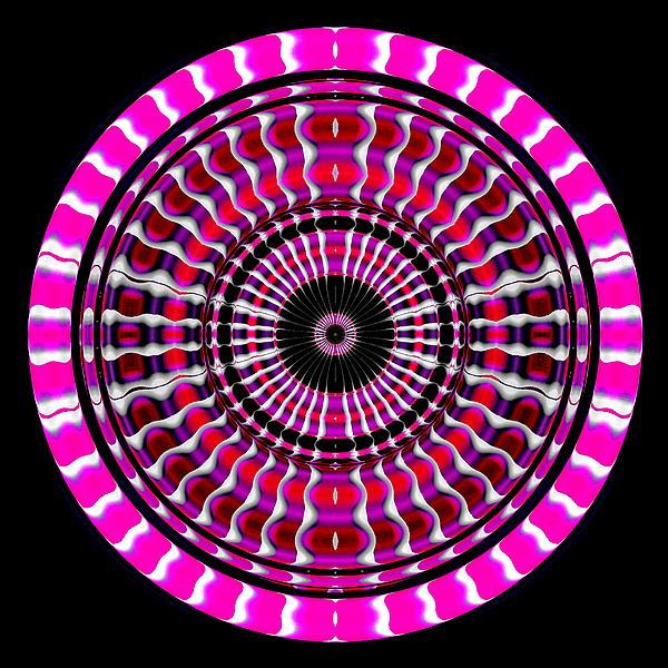 Pink Rings II Print by Visual Artist  Frank Bonilla