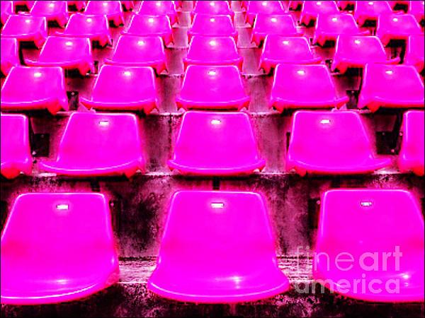 Pink Seats Print by Michael Knight