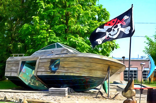 Pirate Ship Flag Of The Skull And Crossbones 2 By Lanjee Chee