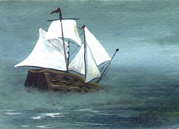 Pirate Ship Print by Phyllisann Arthurs