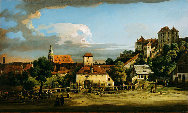 Pirna  The Obertor From The South 1753 1756 Or The Late 1760s Print by MotionAge Designs