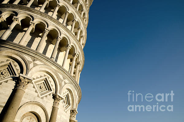 Pisa Tower Print by Mats Silvan