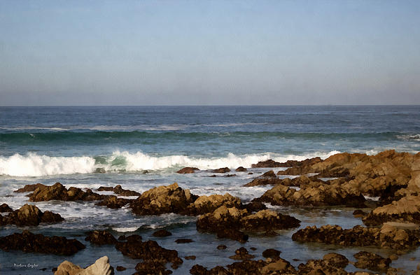 Pismo Beach Seascape Print by Barbara Snyder