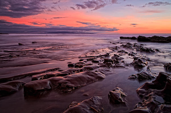 Pismo Beach Sunset Print by Doug Oglesby
