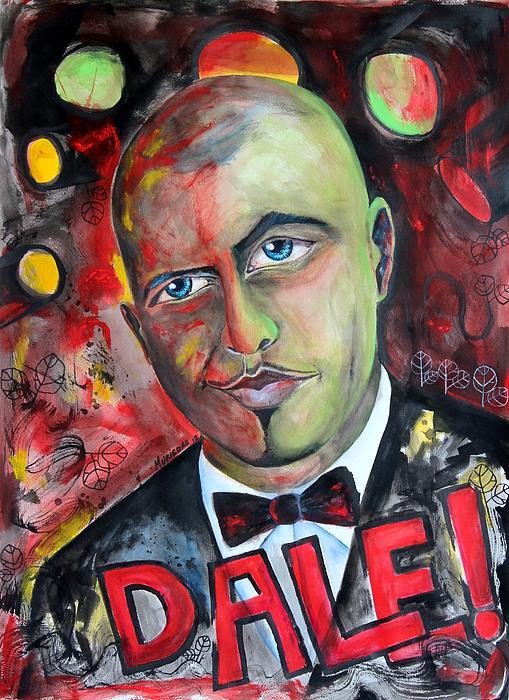 Pitbull - Dale Print by Lorenzo Muriedas